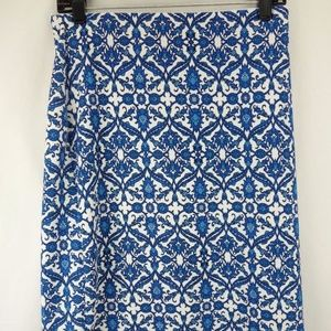 NWT $34 ROZ & ALI Floral Print Knee Length Skirt